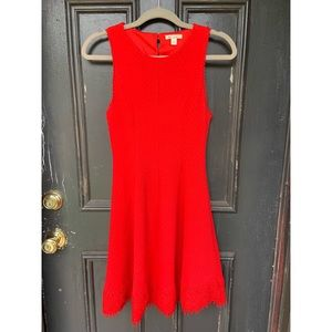 Red Mini Fit and Flare Dress